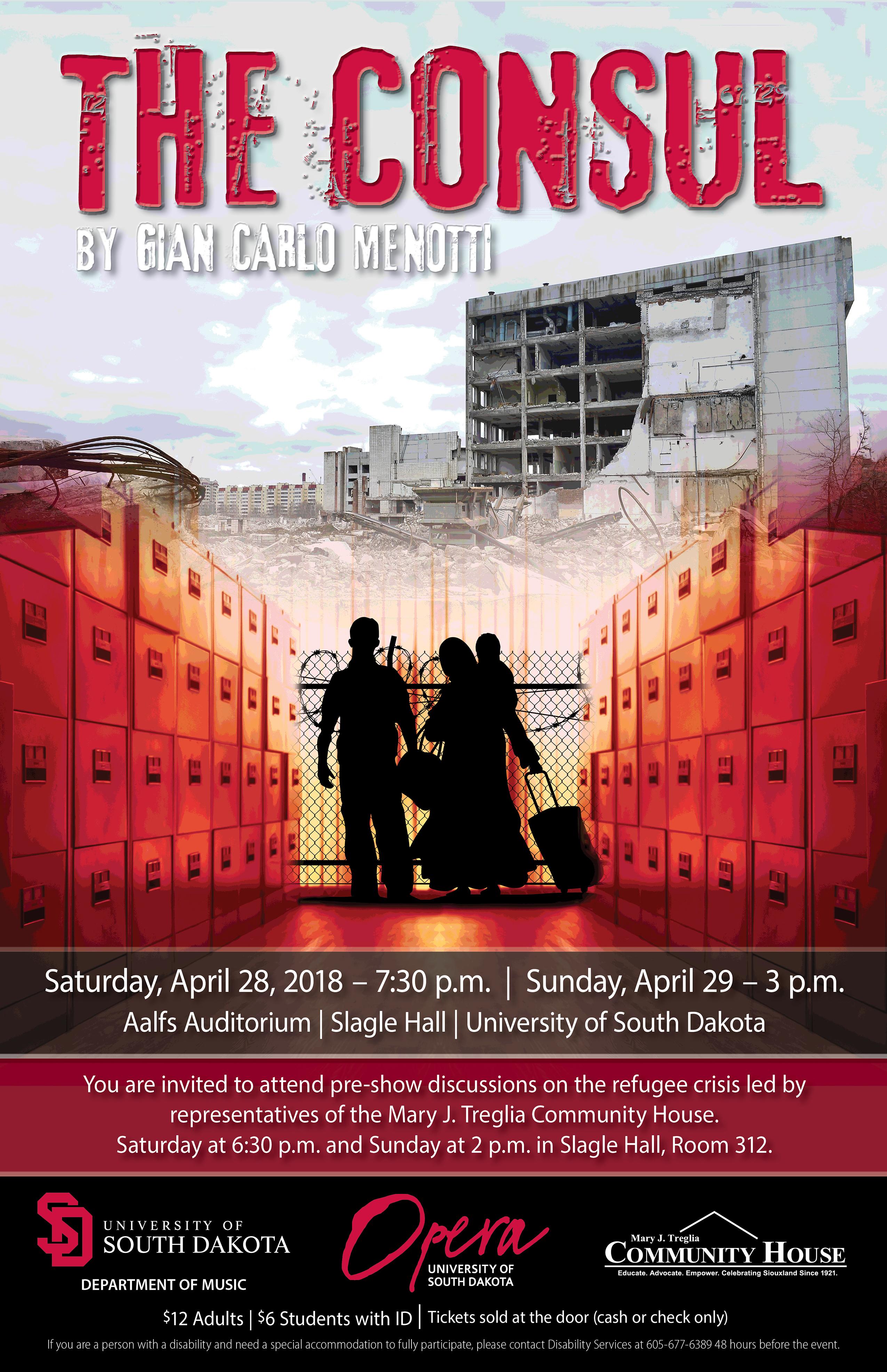 Usd Vermillion Campus Map.Usd Opera Presents The Consul Arts South Dakota