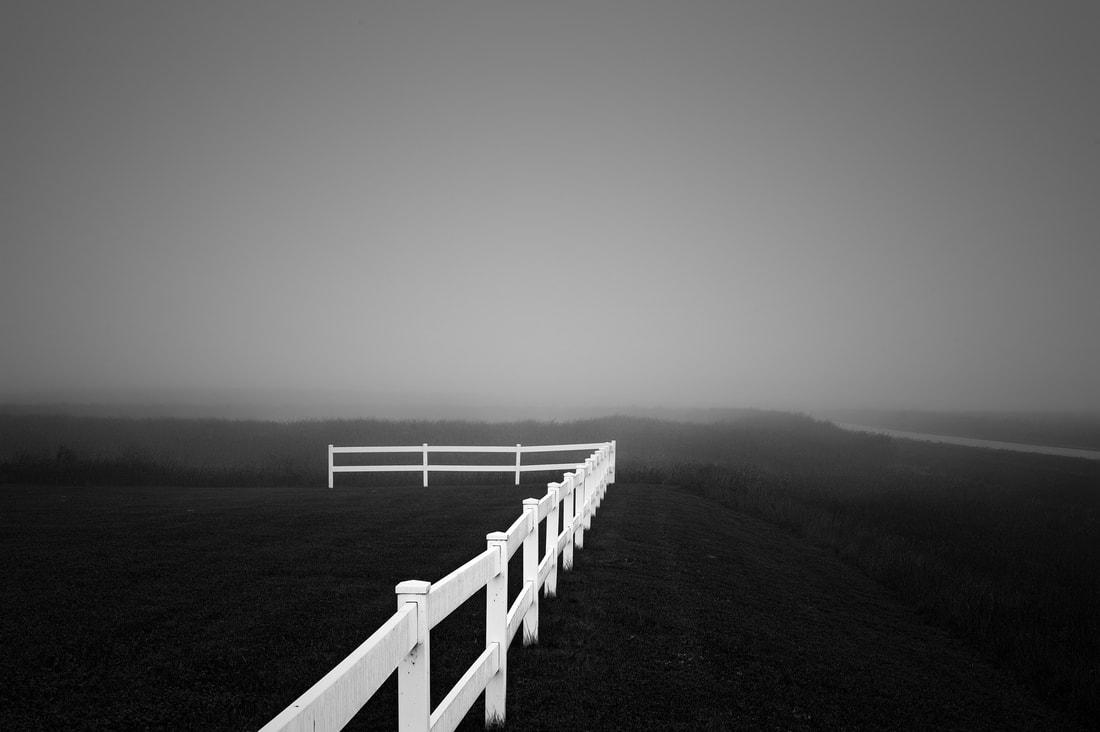 Fine art black and white landscape photography exhibit