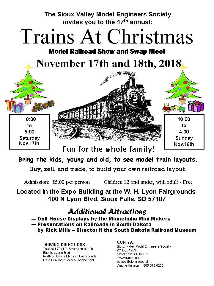 Railroad History Presentations During Trains At Christmas Railroad